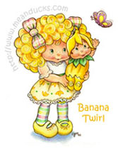 Banana Twirl with butterfly